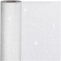 Gift wrap, W: 50 cm, 80 g, silver, 100 m/ 1 roll