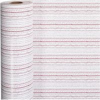Gift wrap, doodles, W: 57 cm, 80 g, red, white, 150 m/ 1 roll