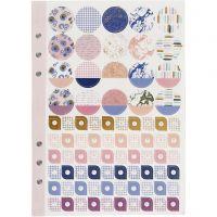 Sticker book, flowers, A5, gold, purple, rose, 1 pc/ 1 pack
