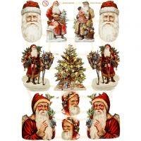 Vintage Die-Cuts, christmas, 16,5x23,5 cm, 3 sheet/ 1 pack