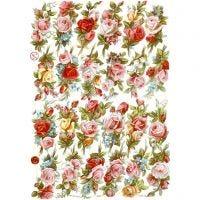 Vintage Die-Cuts, rose bouquets, 16,5x23,5 cm, 3 sheet/ 1 pack