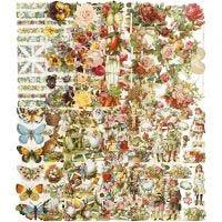 Vintage Die-Cuts, All year, 16,5x23,5 cm, 10x3 sheet/ 1 pack