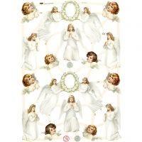Vintage Die-Cuts, angels, 16,5x23,5 cm, 3 sheet/ 1 pack