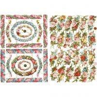 Vintage Die-Cuts, small flowers, 16,5x23,5 cm, 2 sheet/ 1 pack