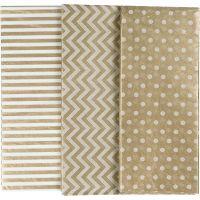 Tissue Paper, 50x70 cm, 17 g, gold, 6 sheet/ 1 pack