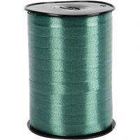 Curling Ribbon, W: 10 mm, glossy, dark green, 250 m/ 1 roll