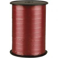 Curling Ribbon, W: 10 mm, glossy, ruby, 250 m/ 1 roll