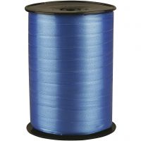 Curling Ribbon, W: 10 mm, glossy, blue, 250 m/ 1 roll
