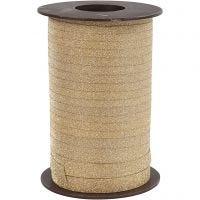 Curling Ribbon, W: 10 mm, glitter, gold, 100 m/ 1 roll