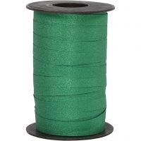 Curling Ribbon, W: 10 mm, glitter, green, 100 m/ 1 roll