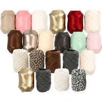 Curling Ribbon, W: 10 mm, beige mother-of-pearl, 12x3 roll/ 1 pack