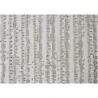 Vellum Paper, music notes, A4, 210x297 mm, 115 g, 10 sheet/ 1 pack