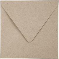 Recycled Envelopes, envelope size 16x16 cm, 120 g, natural, 50 pc/ 1 pack