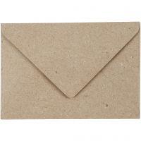 Recycled Envelopes, envelope size 7,8x11,5 cm, 120 g, beige, 50 pc/ 1 pack