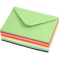 Coloured Envelopes, envelope size 11,5x16 cm, 80 g, 10x10 pc/ 1 pack