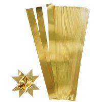 Paper Star Strips, L: 45 cm, W: 10 mm, D: 4,5 cm, gold, 100 strips/ 1 pack