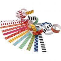 Paper Chains, Pattern, L: 16 cm, W: 15 mm, 2400 pc/ 1 pack