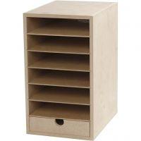 Paper Storage Unit, H: 31,5 cm, depth 24,5 cm, W: 18 cm, A5, 1 pc