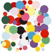 Card Mosaics, round, D: 10+15+20 mm, 180 g/ 1 pack