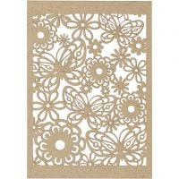 Lace Patterned cardboard, 10,5x15 cm, 200 g, natural, 10 pc/ 1 pack