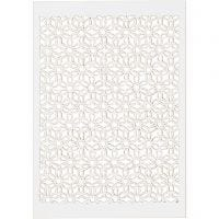 Lace Patterned cardboard, 10,5x15 cm, 200 g, white, 10 pc/ 1 pack