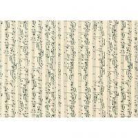 Card, music notes, A4, 210x297 mm, 180 g, 10 sheet/ 1 pack