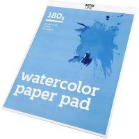 Watercolour Paper Pad, A3, 297x420 mm, 180 g, white, 20 sheet/ 1 pc
