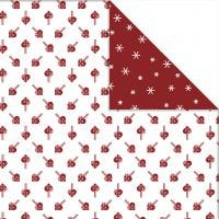 Design Paper, hearts and ice crystals, 30,5x30,5 cm, 180 g, 3 sheet/ 1 pack