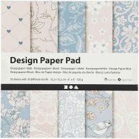 Design Paper Pad, 120 g, rose, 50 sheet/ 1 pack