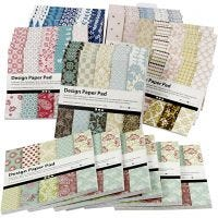 Design Paper Pad, 15,2x15,2 cm, 120 g, assorted colours, 6x10 pc/ 1 pack