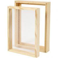Paper making double frame mould, A5, size 25x19x3cm , 1 pc