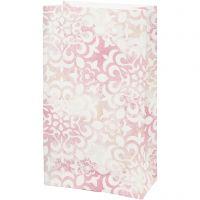 Paper Bag, watercolour, H: 21 cm, size 6x12 cm, 80 g, 10 pc/ 1 pack