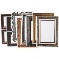 Frames, size 26,2x18,5 cm, metallic colours, 16 ass sheets/ 1 pack