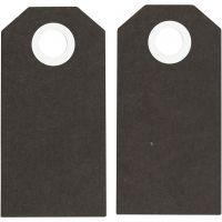 Manila Tags, size 6x3 cm, 250 g, black, 20 pc/ 1 pack