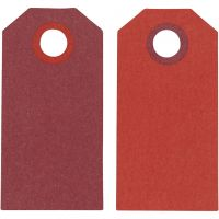 Manila Tags, size 6x3 cm, 250 g, claret/red, 20 pc/ 1 pack