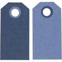 Manila Tags, size 6x3 cm, 250 g, dark blue/light blue, 20 pc/ 1 pack