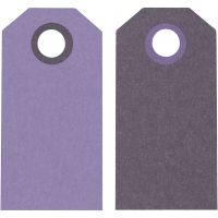 Manila Tags, size 6x3 cm, 250 g, lilac/dark lilac, 20 pc/ 1 pack
