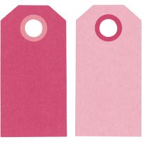 Manila Tags, size 6x3 cm, 250 g, pink/rose, 20 pc/ 1 pack