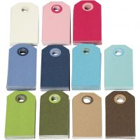 Colorful Gift Tags, size 6x3 cm, Content may vary , assorted colours, 200 asstd./ 1 pack