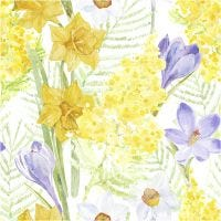 Table Napkins, spring flowers, size 33x33 cm, 20 pc/ 1 pack