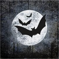 Table Napkins, Moon and Bats, size 33x33 cm, 20 pc/ 1 pack