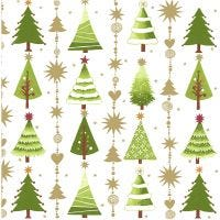 Table Napkins, Christmas trees, size 33x33 cm, 20 pc/ 1 pack