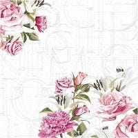 Table Napkins, Roses, size 33x33 cm, 20 pc/ 1 pack