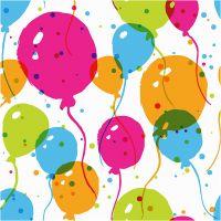 Table Napkins, Ballons , size 33x33 cm, 20 pc/ 1 pack