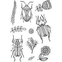 Clear Stamps, buggs, 11x15,5 cm, 1 sheet