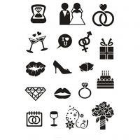 Clear Stamps, wedding, 11x15,5 cm, 1 sheet