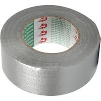 Duct Tape, W: 50 mm, silver, 50 m/ 1 roll