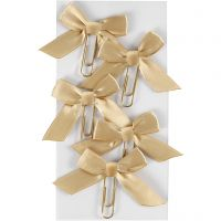 Metal Paperclips, size 40x70 mm, gold, 5 pc/ 1 pack