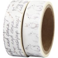 Washi Tape, bunny, W: 15 mm, 2x5 m/ 1 pack