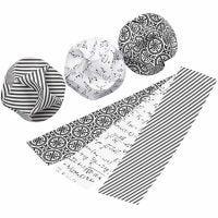 Click Ornaments, D: 5 cm, size 3,5x8,8 cm, 9 set/ 1 pack